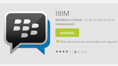 Ya esta disponible para Android la aplicación BBM
