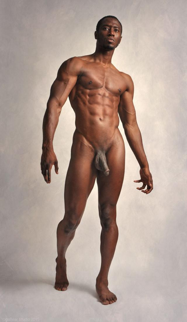 Black naked male model male