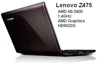AMD A6-3400M Notebook
