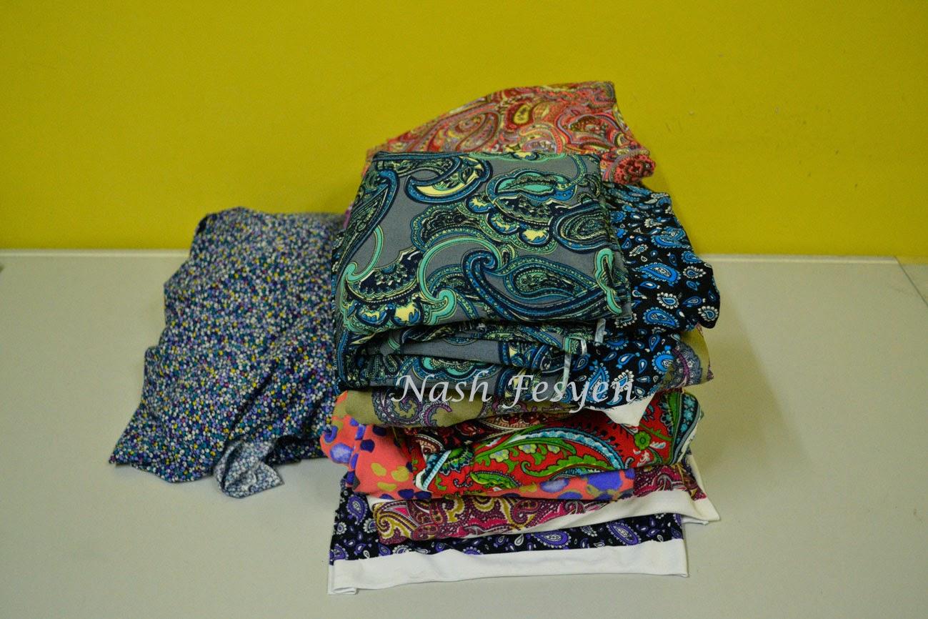 Nash Fesyen beli kain di jakel