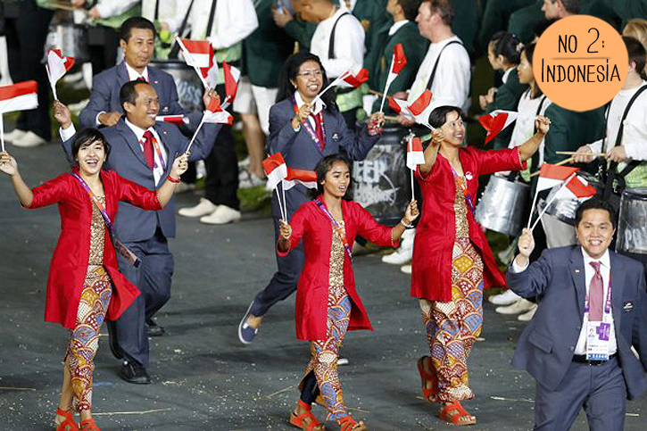 Team Indonesia 2012 Olympic Games, Indonesian Batik Olympics, Olympic Fashion London 2012, Indonesian style