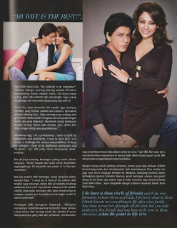 Shahrukh & Gauri Khan on the cover of Malaysia's NONA magazine