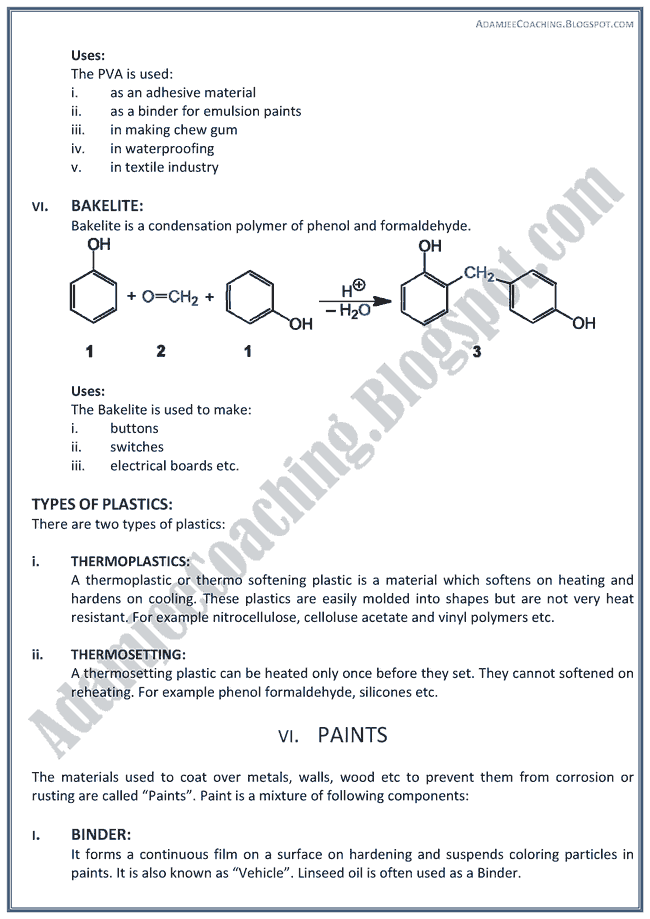 XII Chemistry Notes - Chemical Industries in Pakistan