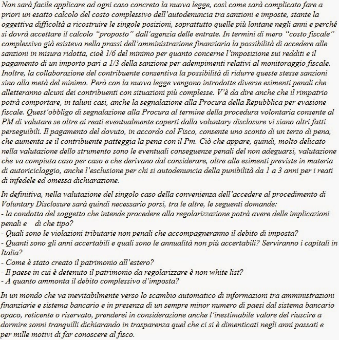 voluntary disclosure, rientro capitali all'estero