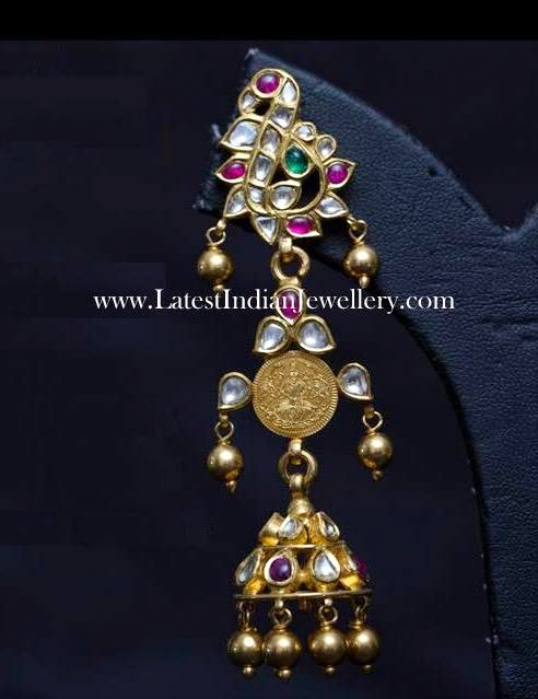 Fine Gold Long Jhumka Earring