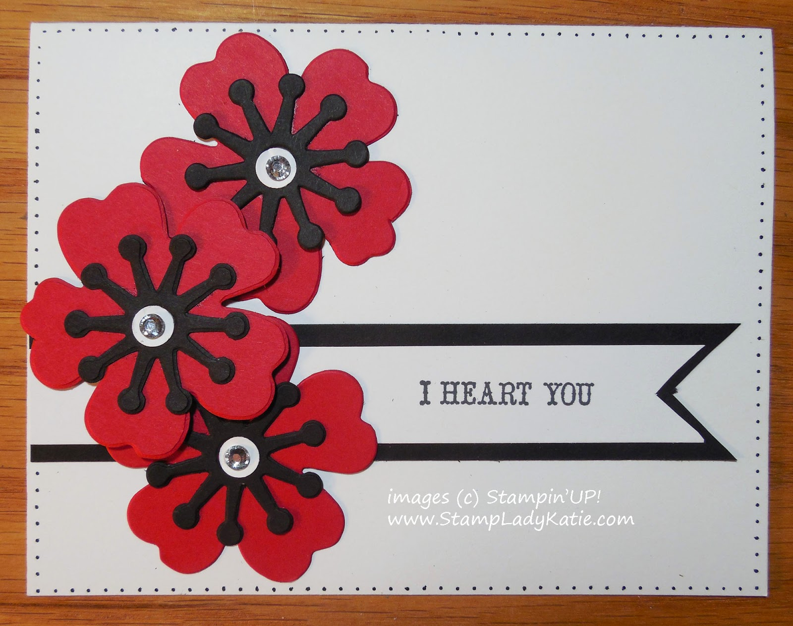 Flower card made with Stampin'UP!'s Bouquet Bigz L Die