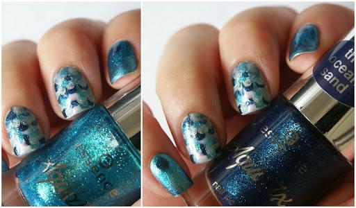 Mermaid Nail Art with essence Aquatix TE Polish