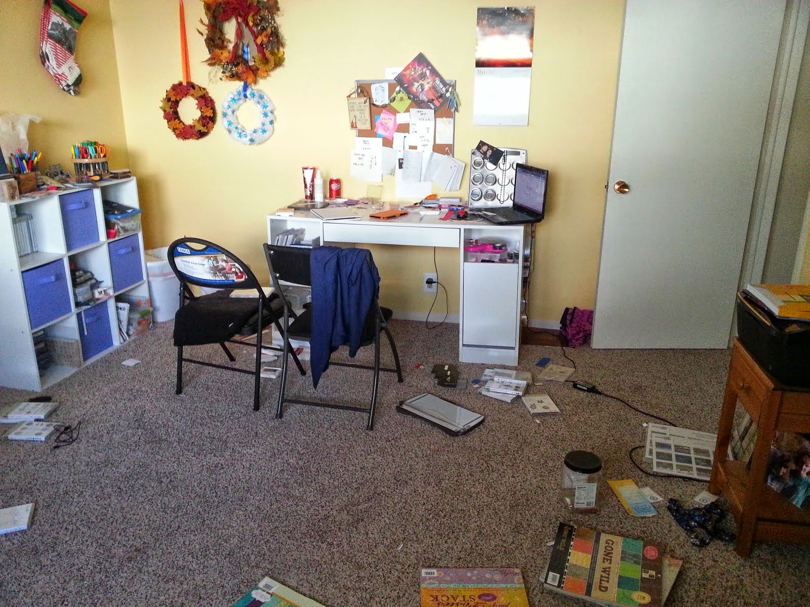 My yellow craft room!