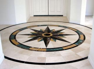 Special Effect on Floor with Decorative Marble Tiles