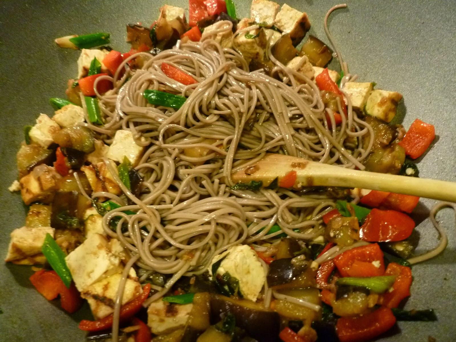 Enjoy Indian Food: Eggplant Tofu Soba Noodles