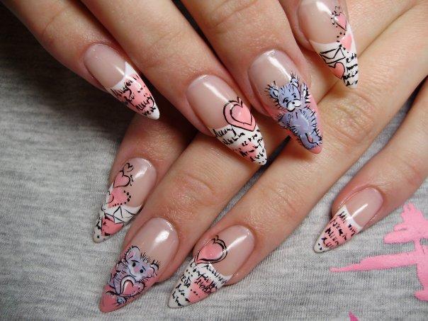 Freehand Nail Art Patterns For Women Corner Nail Art