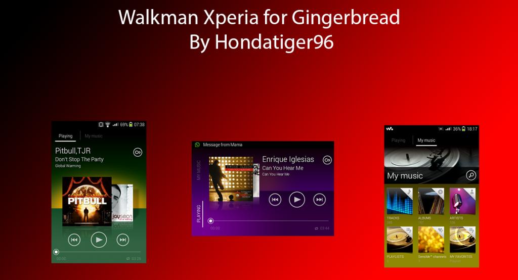 Walkman ICS untuk Gingerbread