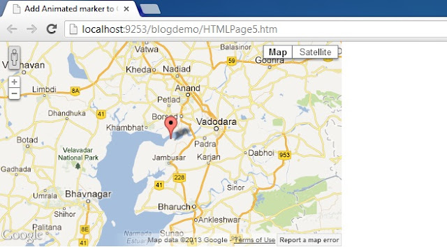 How To Add Animated Markers to Google Maps V3 with JavaScript in Asp.net Website HTML And C# Asp.Net