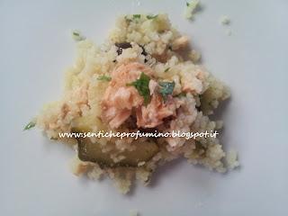 Cuoscous freddo con salmone e zucchini