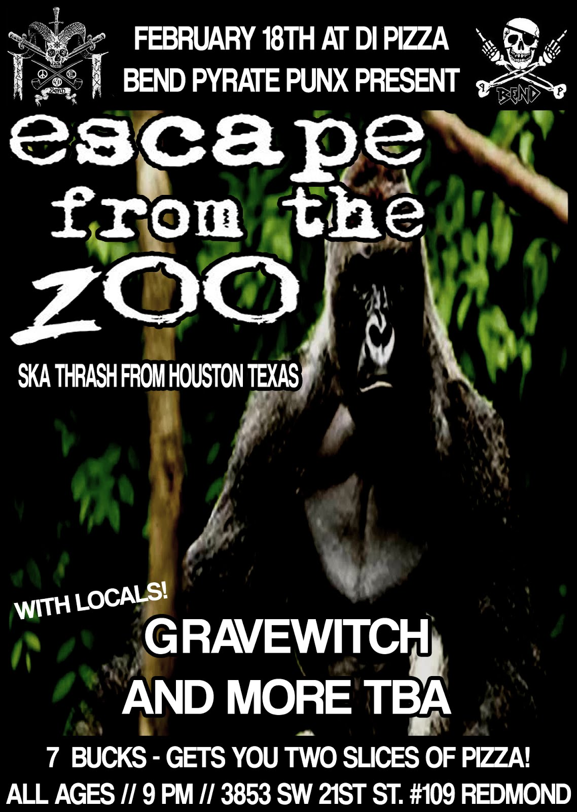 ESCAPE FROM THE ZOO, GRAVEWITCH, TBA