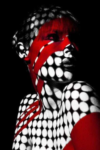 Light Projected Body Art