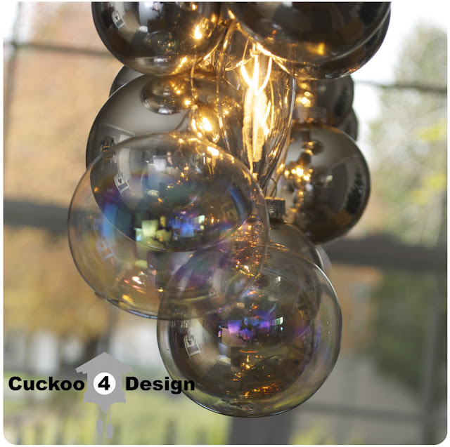 DIY Christmas cellula chandelier
