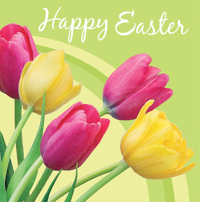 Happy Easter Background flowers Wallpaper