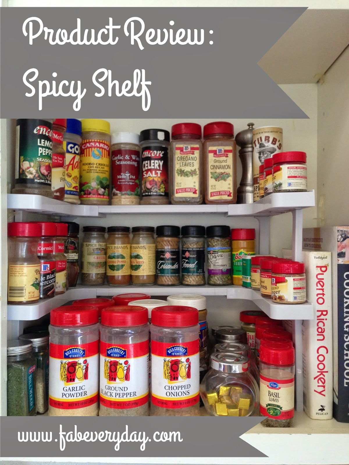Product Review: Spicy Shelf Space Saving Cabinet Spice Organizer