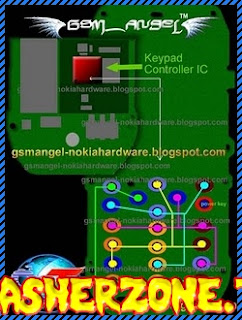 Nokia 1280 nokai 103 key pad ways jumper diagram hardware problem solution
