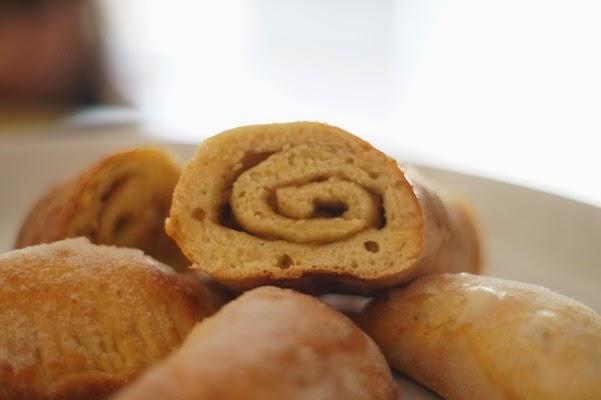 Pan de relleno con mermelada de higos