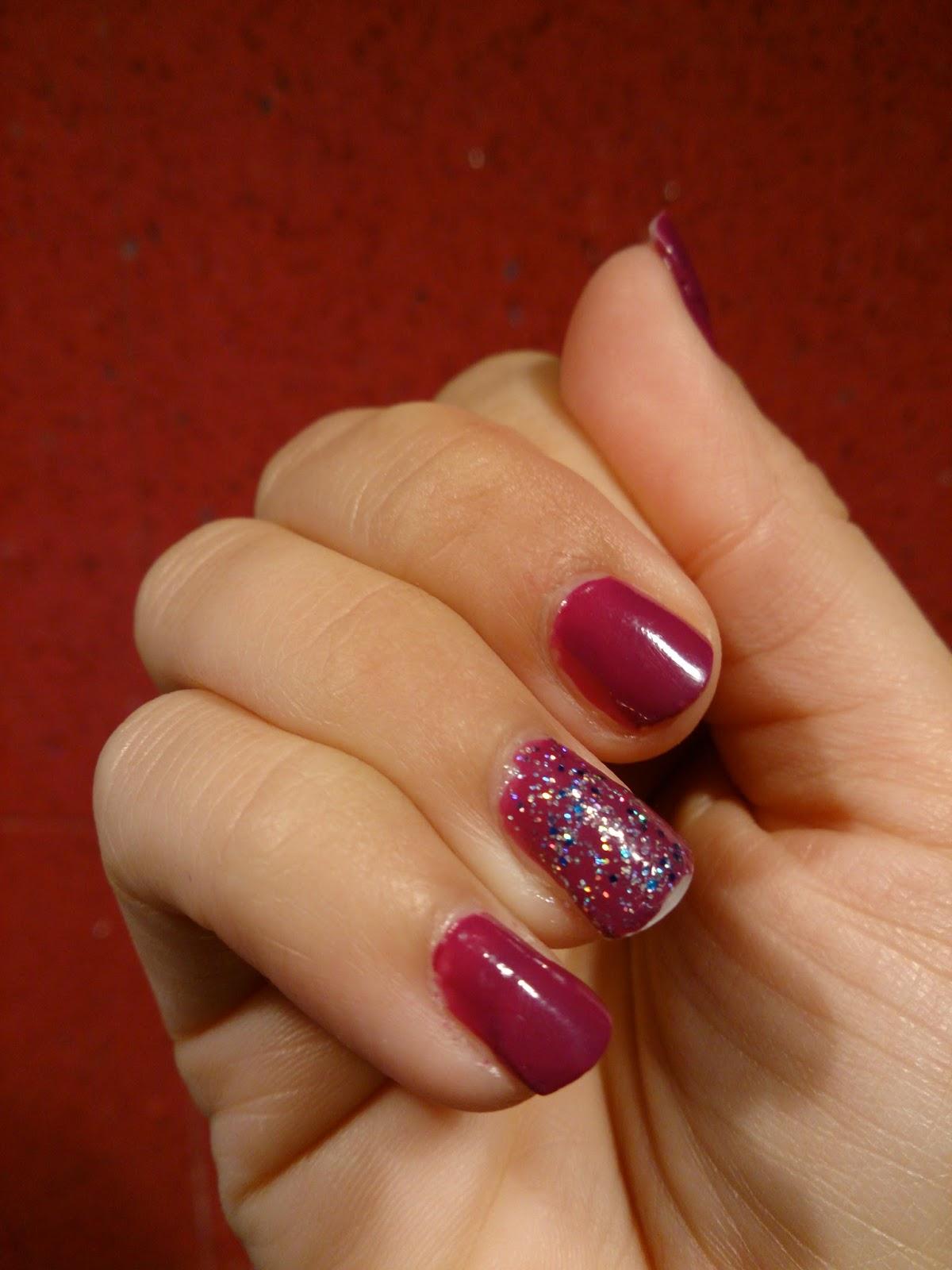 barry m rimmel nail blog purple glitter polish varnish