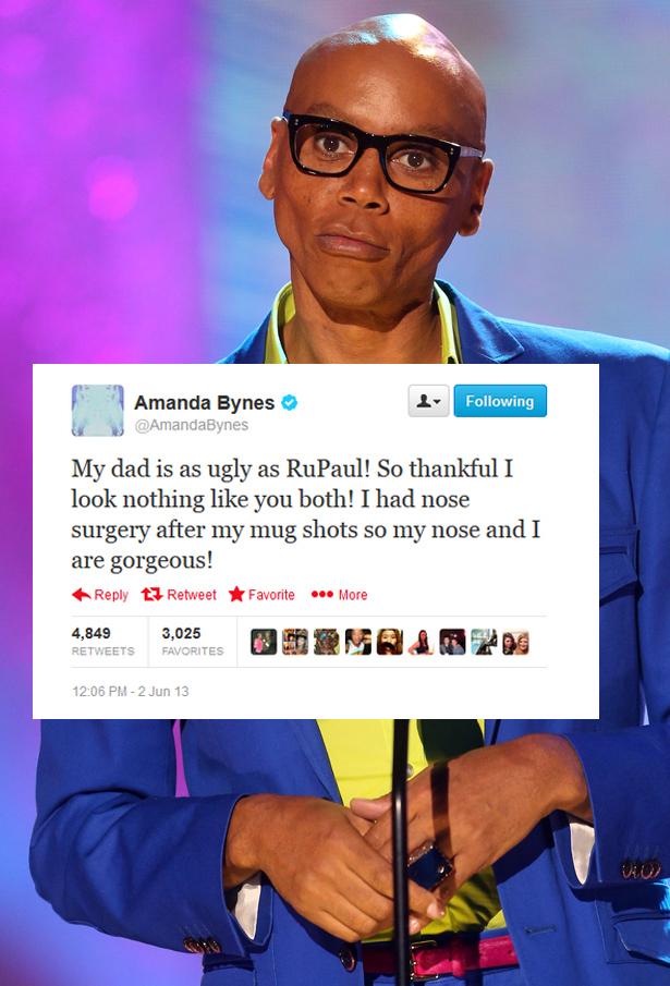 Bynes tweet RuPaul