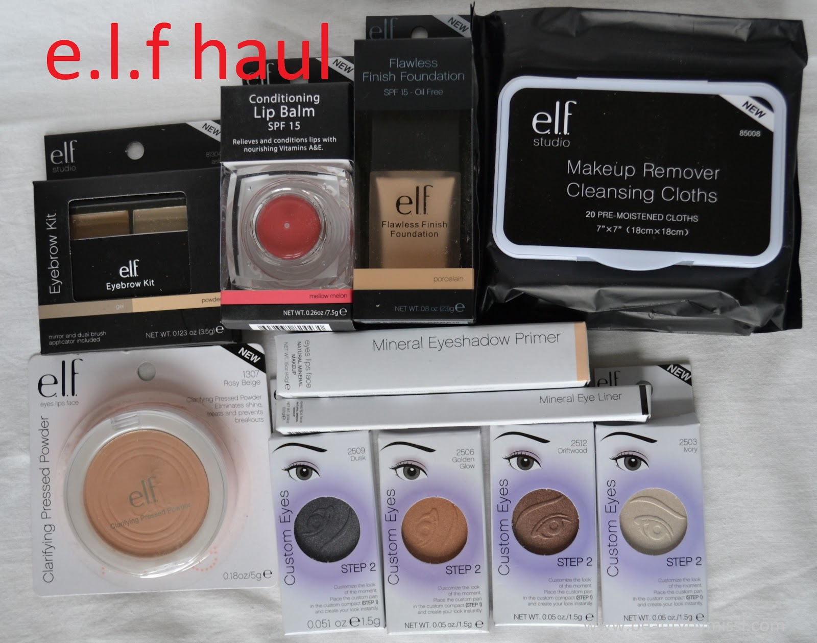 beauty products from elf, shopping
