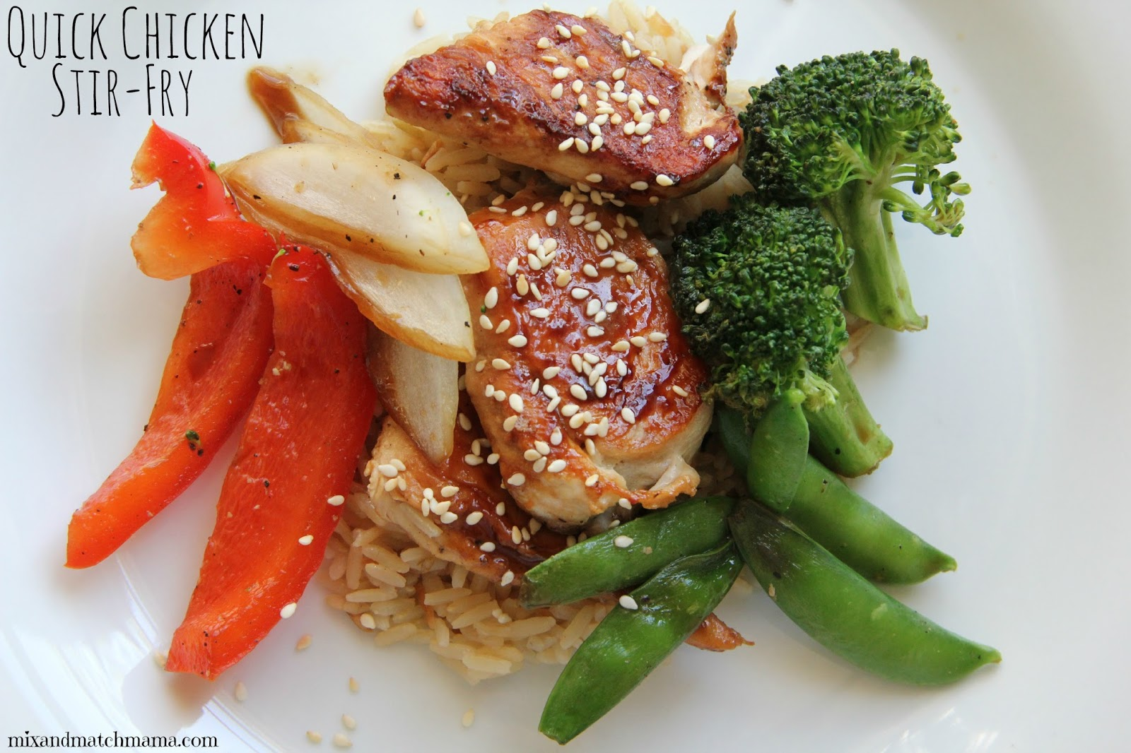 Mix and Match Mama: Dinner Tonight: Quick Chicken Stir Fry