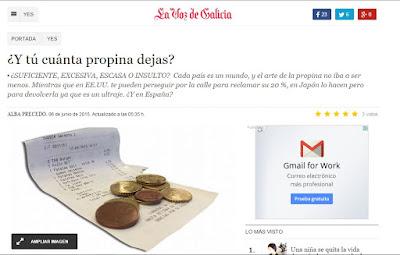 La Voz de Galicia. YES. Olga Casal