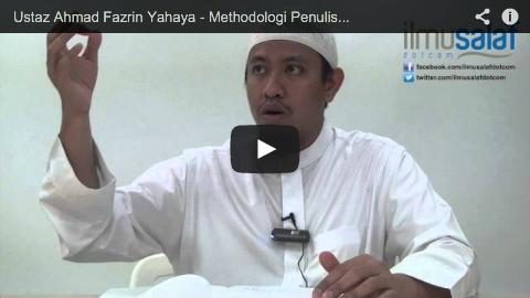Ustaz Ahmad Fazrin Yahaya – Methodologi Penulisan Kitab Rasyul Barad, Syarah Al-Adab Al-Mufrad
