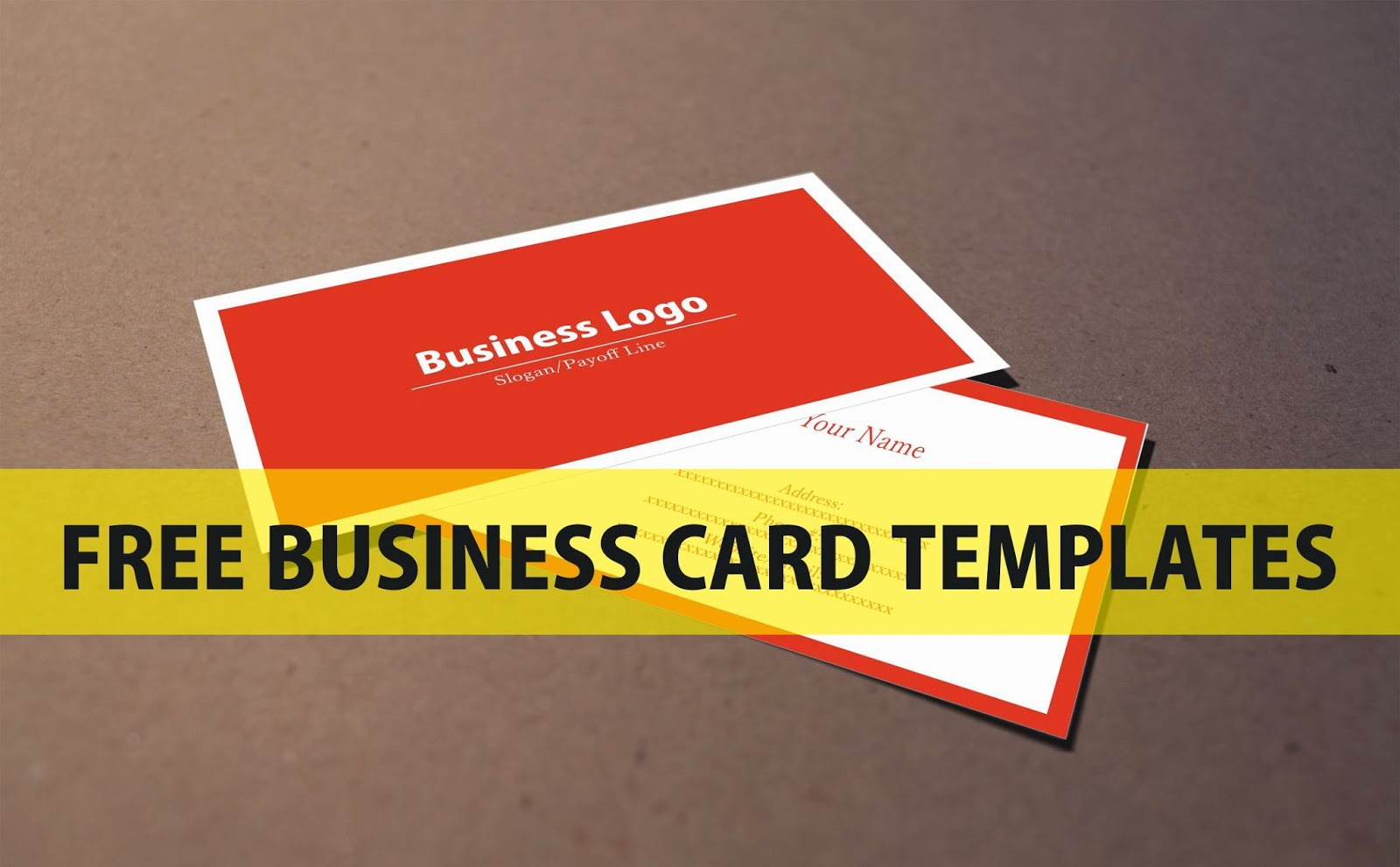 Free business card template accmission