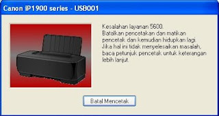 Error 5600 Printer Canon iP1900