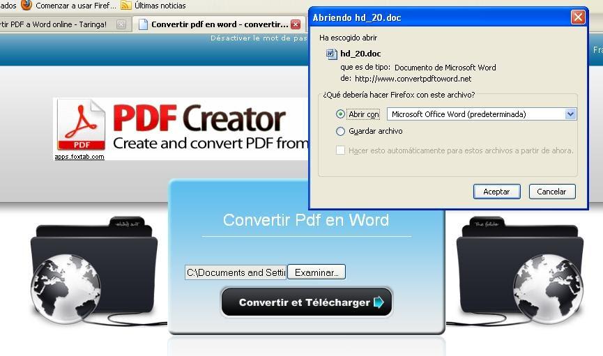 conversor de pdf para word free download