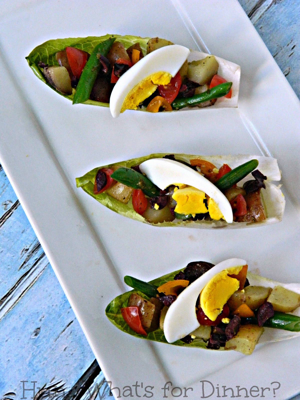 Salad Nicoise Bites using The Little Potato Company Creamer potatoes