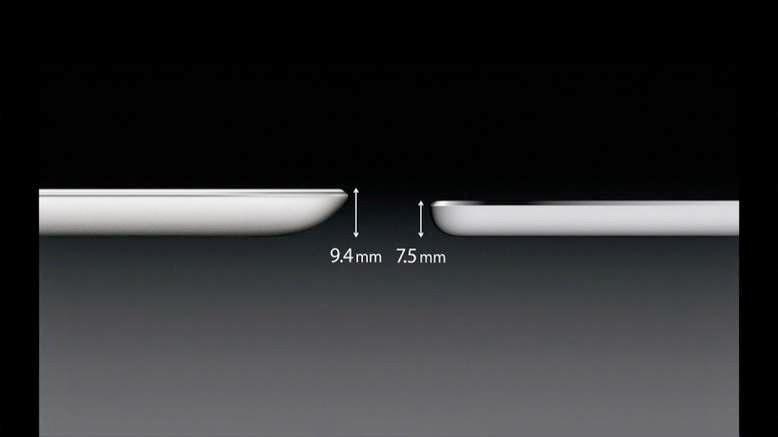 Το iPad Air- κυκλοφόρησε το Νοέμβριο του 2013. Χαρακτήρισε μια λεπτότερη σχεδίαση με ομοιότητες με το iPad Mini. Είχε μια βελτιωμένη κάμερα στο μπροστινό μέρος, κάνοντας το «Face Time» πιο ευκρινή.