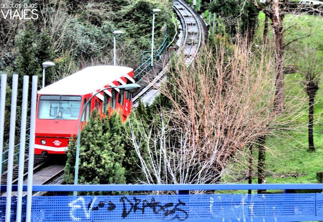 Curva del funicular de Artxanda