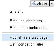publish Excel as a Web Page