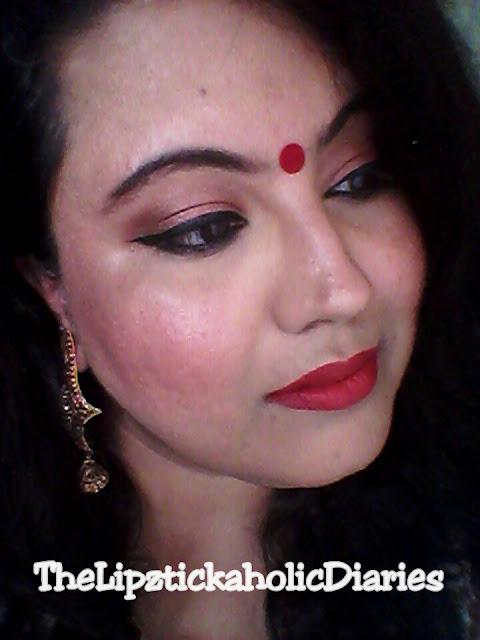 Durga Pooja Makeup Look image