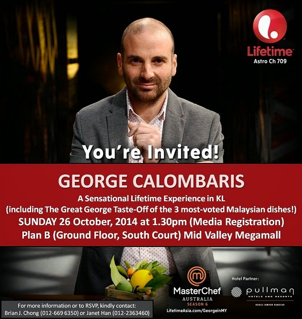 Meet MasterChef Australia Judge George Calombaris Live in Kuala Lumpur