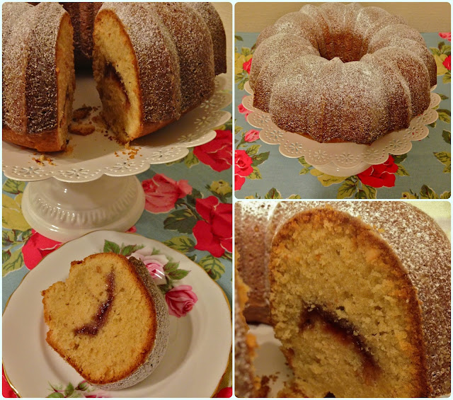 Peanut Butter and Jelly Bundt