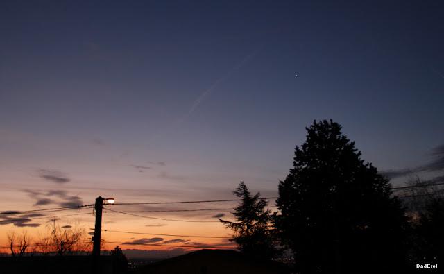 Etoile le matin dans le ciel