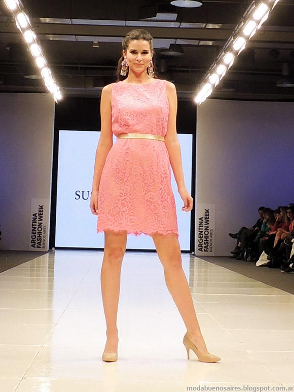 Susana Ortiz primavera verano 2015 vestidos cortos. Moda verano 2015.
