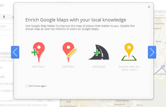 Google Promotes Map Maker