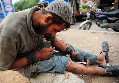 Anti Narcotics Force-ANF, Drug, Pakistan, Karachi, Addict, Million, Health, Crime, Human, Injection, Cigarette,