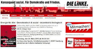 Screenshot Webseite Die LINKE Hamburg