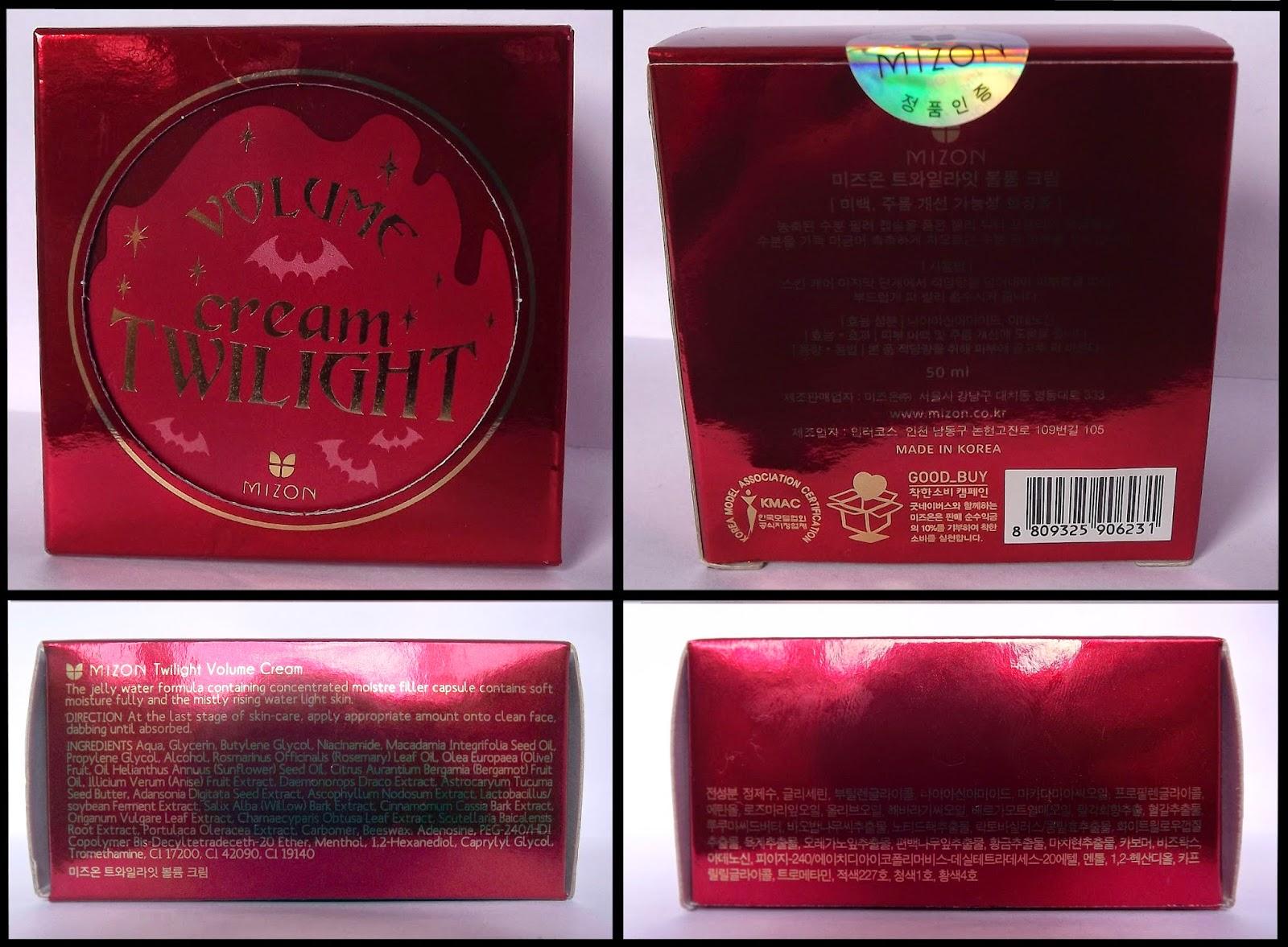 Mizon twilight voume cream box