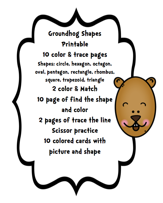 groundhog day coloring pages preschool - photo#35