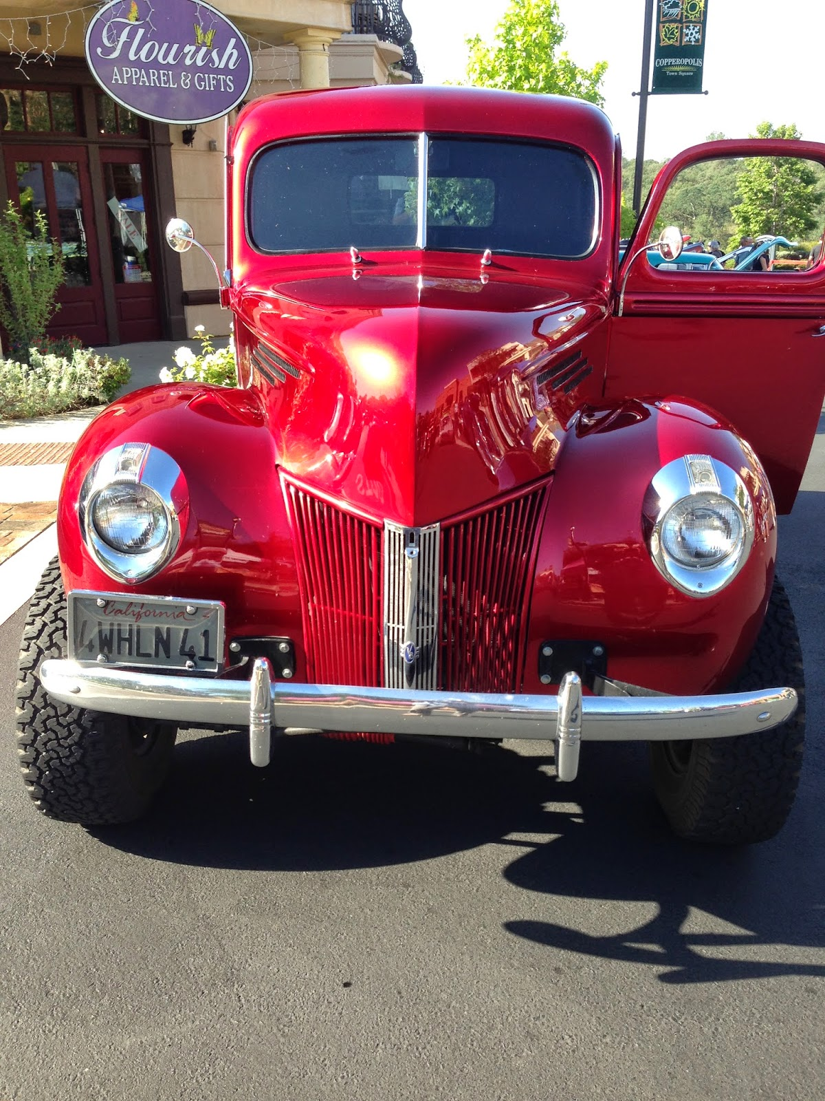 Autoliterate 1941 Ford 4x4 Coupe Red From Colin Washburn At The Copperopolis Calif Car Show Candy Apple Paint Job On This Rig Was Exquisite