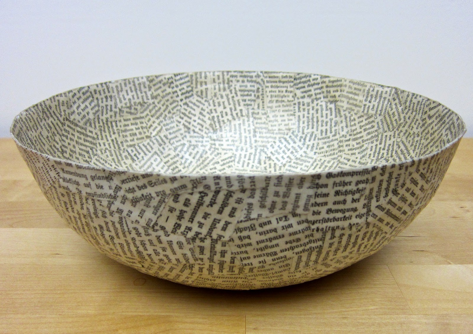 Printing with gelli arts paper mache bowls with gelli for Best paper for paper mache